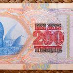 Kazajistan 200 tenges 1999 reverso
