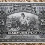 Rusia 25 rublos 1920 Gob. Provisional Priamur (148x84mm) pk.S1248 anverso