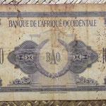 Africa Occidental Francesa 1.000 francos 1942 (155x88mm) pk.32a reverso