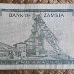 Zambia 2 kwachas 1968 (135x70mm) pk.6c reverso