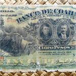 México, 5 pesos 1909 Banco de Coahuila -Saltillo (180x80mm) anverso