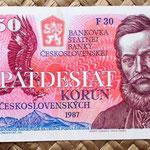Checoslovaquia 50 korun 1987 anverso