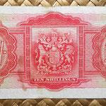 Islas Bermudas 10 shillings 1937 reverso