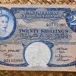 British East Africa 20 shillings 1961 anverso