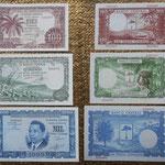 Guinea Ecuatorial 1ª serie pesetas guineanas 1969 anversos-reversos