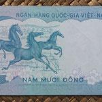 Vietnam del Sur 50 dong 1972 pk.30a reverso
