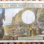 Mali 1000 francos 1970 reverso