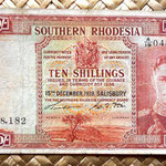 Southern Rhodesia 10 shillins 1939 anverso