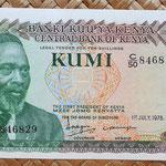 Kenia 10 shilingis 1978 (140x73mm) anverso