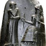 Hammurabi code, se expone en el Museo del Louvre de París
