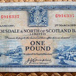 Escocia Clydesdale and North of Scotland Bank 1 libra 1954 anverso