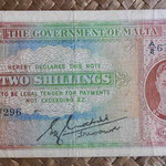 Malta 2 shillings 1942 (133x72mm) pk.17 uniface