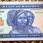 Eritrea 100 nakfa 2004 anverso