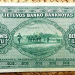 Lituania 10 litu 1927 reverso
