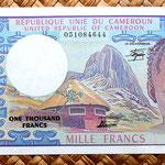 Camerún 1000 francos 1984 anverso