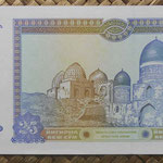 Uzbekistan 25 sum 1994 (144x68mm) pk.77a reverso