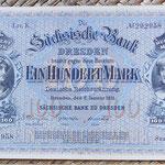 Alemania 100 marcos 1911 Sachsische Bank Dresden (160x102mm) pk.S952b anverso