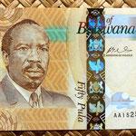 Botswana 50 pulas 2009 anverso