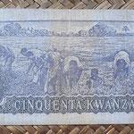 Angola 50 kwanzas 1976 pk.110a reverso