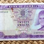 Zambia 20 kwacha 1969 anverso