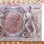 Alemania 1000 reichsmark 1936 reverso
