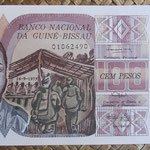 Guinea Bissau 100 pesos 1975 (150x80mm) pk.2a anverso