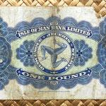 Isla de Man 1 pound 1957 reverso