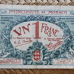 Mónaco, 1 franco 1920 (108x72mm) pk.5 anverso
