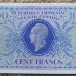 Francia 100 francos 1943 -Corcega (156x99mm) pk.105 anverso