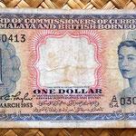 Malaya y Borneo británico 1 dólar 1953 anverso
