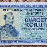Checoslovaquia 20 korun 1945 anverso
