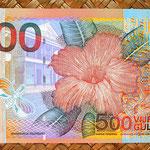 Surinam 500 gulden 2000 reverso