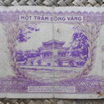 Indochina 100 piastras 1942-45 (174x76mm) pk.67 reverso