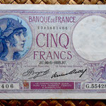 Francia 5 francos 1933 (125x80mm) pk. 72e anverso