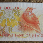 Nueva Zelanda 5 dollars 1981-85 pk.171a reverso