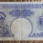 Tunez 0.50 dinar 1958 (138x72mm) pk.57 reverso