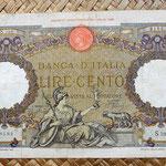 Italia 100 liras 1938 anverso