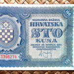 Croacia 100 kunas 1941 (148x78mm) anverso