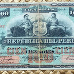 Perú 100 soles 1879 anverso