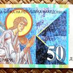 Macedonia 50 dinares 2007 anverso