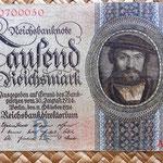 Alemania 1000 reichsmark 1924 anverso