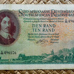 Sudáfrica 10 rand 1962 (170x96mm) anverso