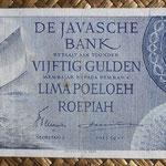 Indias Orientales Holandesas 50 gulden 1946 (148x74mm) pk.93 anverso
