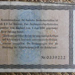 Alemania bono 50 Reichsmark -jewish notes- 1933-resello 1934 (190x110mm) pk.211 reverso