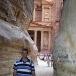 llegando al Tesoro de Petra