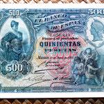 España 500 pesetas 1907 anverso
