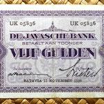 Indias Holandesas 5 gulden 1930 (138x74mm) pk.69  anverso