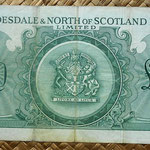 Escocia 20 pounds sterling -Clydesdale and North of Scotland Bank Limited 1960  reverso