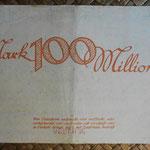 Alemania 100.000.000 marcos Amtshauptmannschaft Dresden Neustadt  sep-1923 (148x91mm) reverso