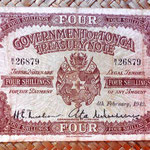 Tonga colonia británica 4 shillings 1942 anverso